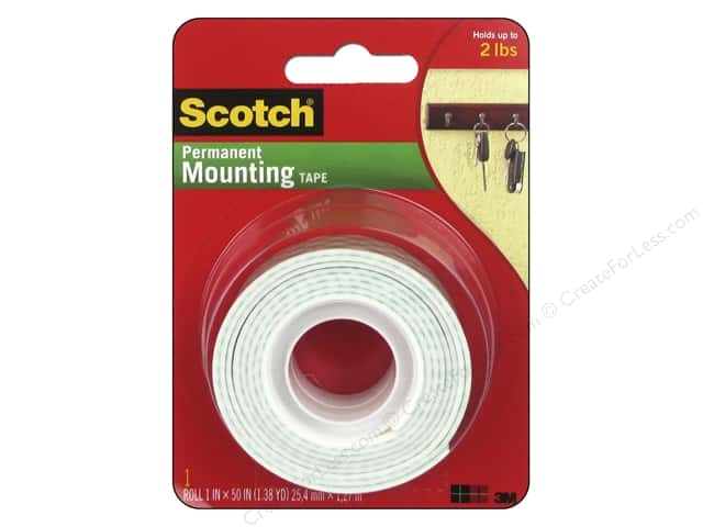 Scotch Mounting Tape Heavy Duty 1 in. x 50 in.