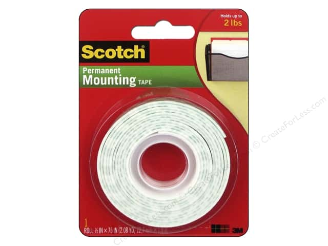 "Scotch Mounting Tape Heavy Duty .5""x 75"""