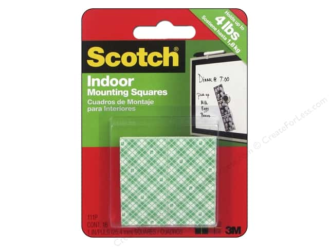 Scotch Mounting Squares Heavy Duty 1 in. 16 pc