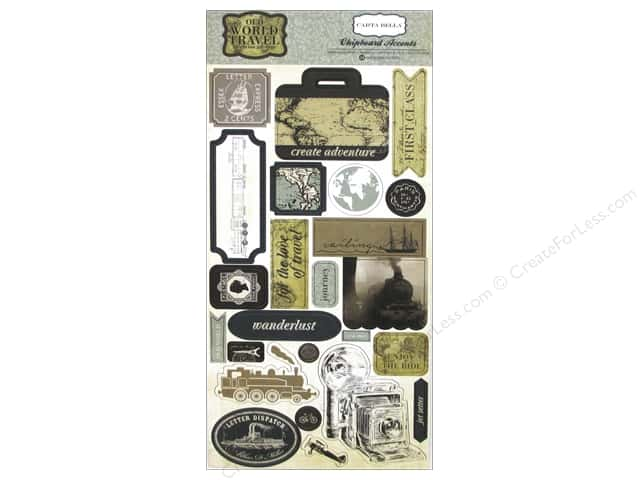 Carta Bella Chipboard Accents Old World Travel