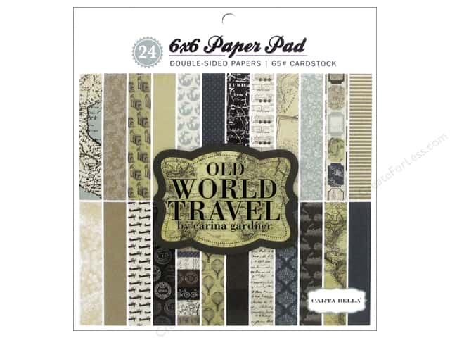Carta Bella 6 x 6 in. Paper Pad Old World Travel