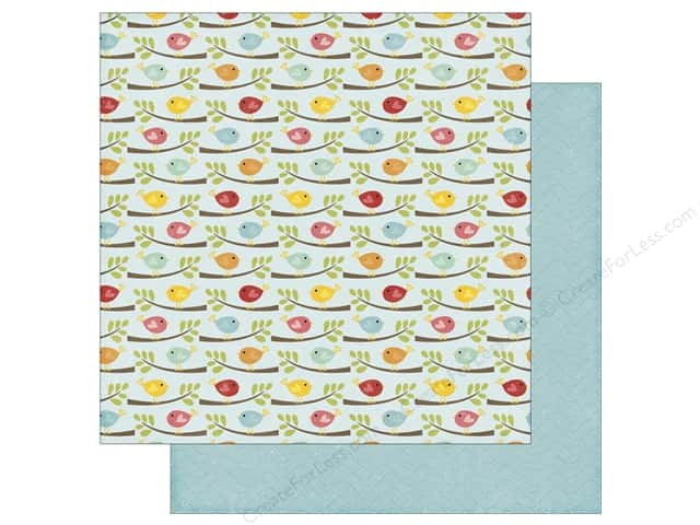Echo Park 12 x 12 in. Paper Happy Summer Collection Flocking Feathers (25 sheets)