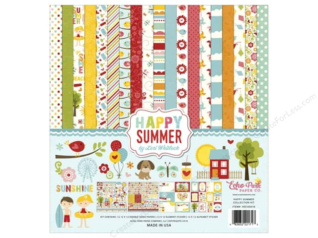 Echo Park 12 x 12 in. Collection Kit Happy Summer