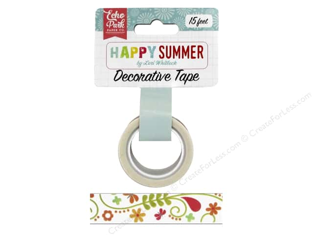 Echo Park Decorative Tape Happy Summer Ivy Floral