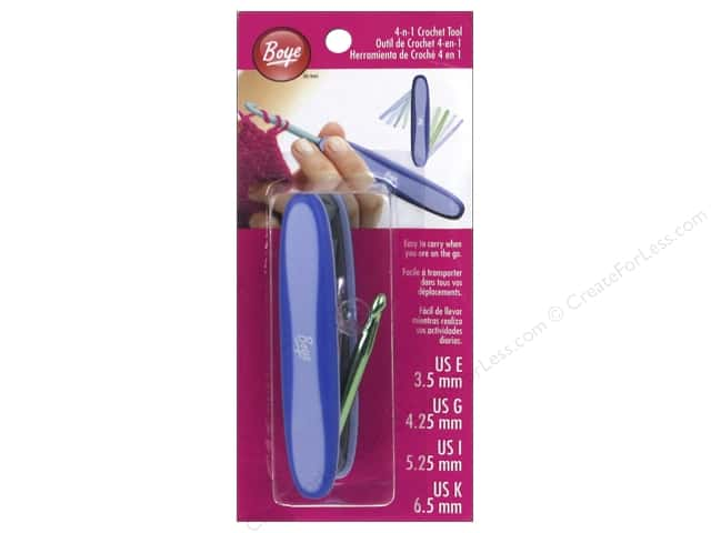 Boye 4-in-1 Crochet Hook Tool Size E, G, I and K