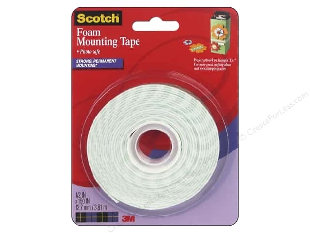 "Scotch Mounting Foam Tape .5""x 150"""