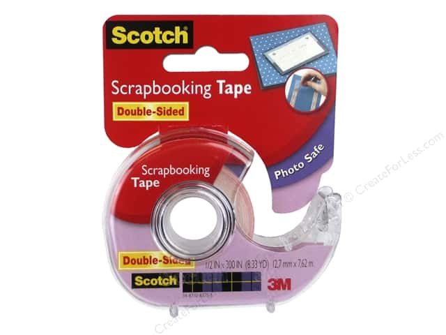 Scotch Tape Scrapbooking Double Sided .5 in. x 300 in.