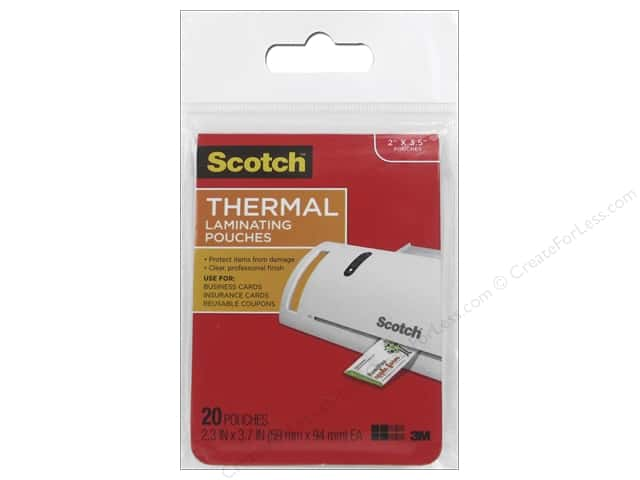 Scotch Laminating Pouch Thermal Business Card 20pc