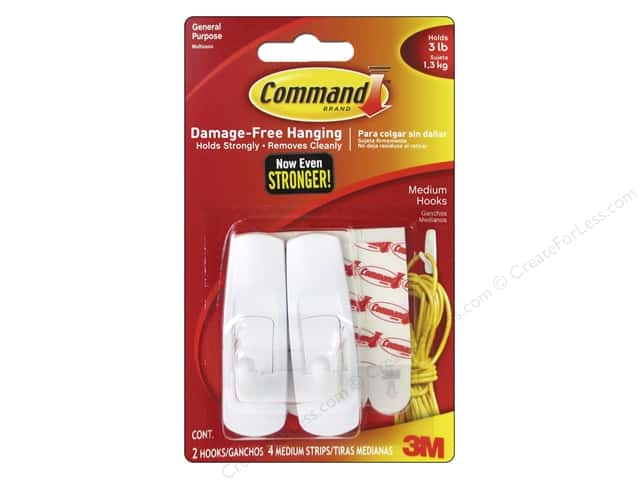 Command Adhesive Hook Medium 2 pc