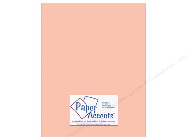 Paper Accents Cardstock 8 1/2 x 11 in. #8009 Muslin Peach Glow (25 sheets)