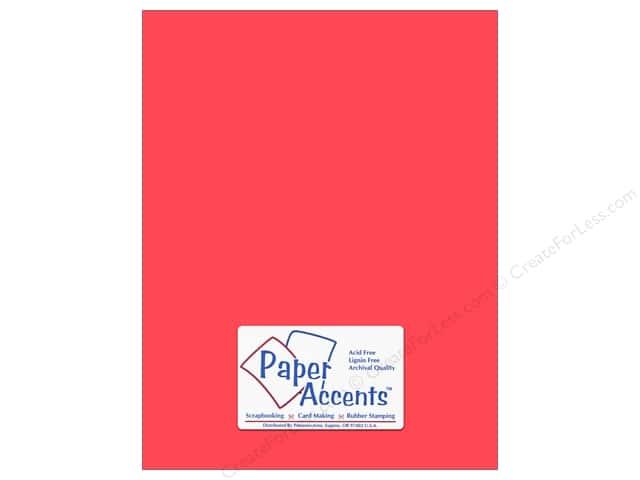 Paper Accents Cardstock 8 1/2 x 11 in. #8008 Muslin Strawberry (25 sheets)