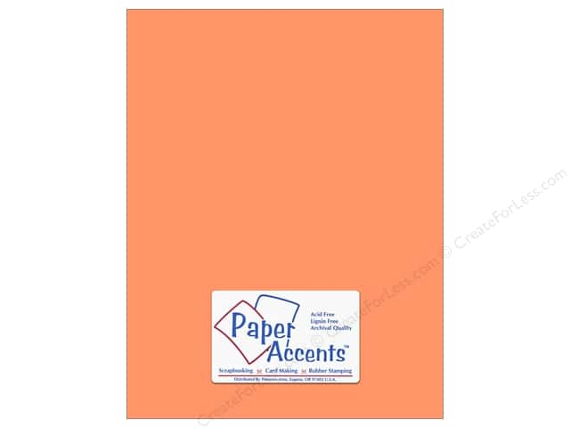Cardstock 8 1/2 x 11 in. #8010 Muslin Cool Cantaloupe by Paper Accents (25 sheets)