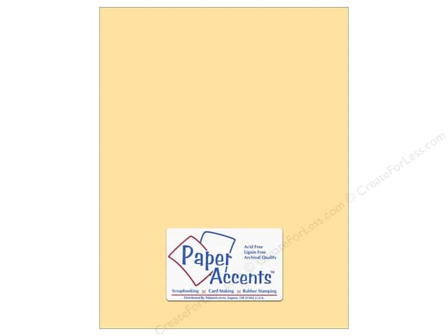 Paper Accents Cardstock 8 1/2 x 11 in. #8013 Muslin Butter Cream (25 sheets)