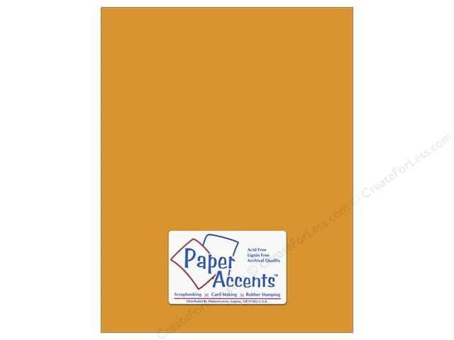 Paper Accents Cardstock 8 1/2 x 11 in. #8016 Muslin Curry Spice (25 sheets)