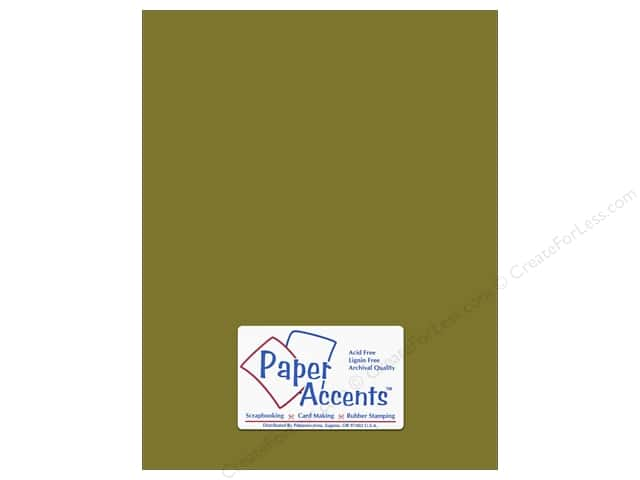 Cardstock 8 1/2 x 11 in. #8020 Muslin Olive Drab by Paper Accents (25 sheets)
