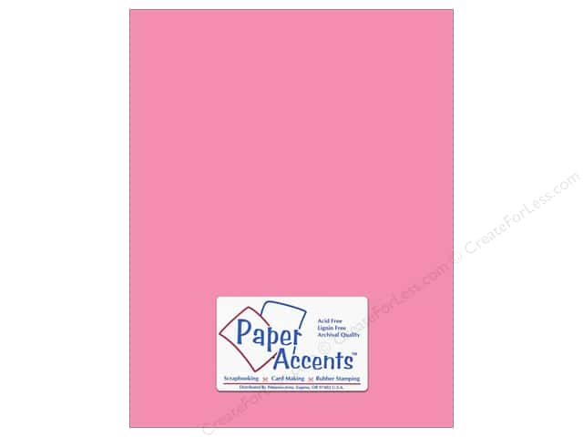 Cardstock 8 1/2 x 11 in. #8058 Muslin Vintage Pink by Paper Accents (25 sheets)