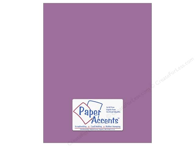 Cardstock 8 1/2 x 11 in. #8056 Muslin Purple Pizzazz by Paper Accents (25 sheets)
