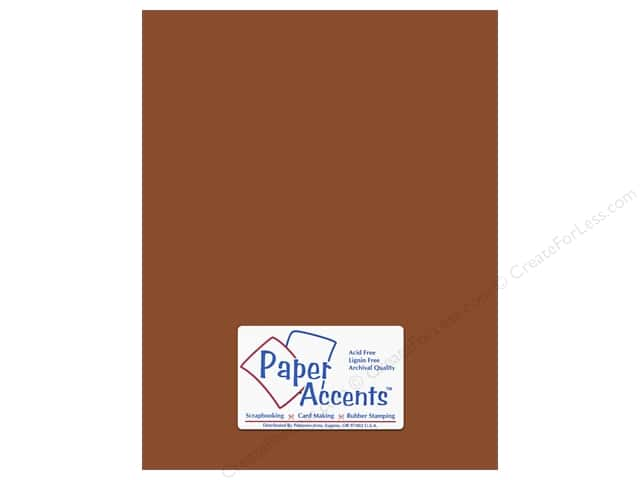Cardstock 8 1/2 x 11 in. #8068 Muslin Mocha Divine by Paper Accents (25 sheets)