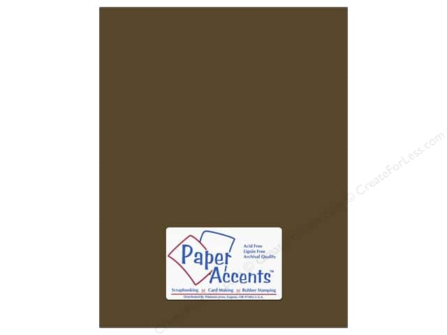 Cardstock 8 1/2 x 11 in. #8072 Muslin Bitter Chocolate by Paper Accents (25 sheets)