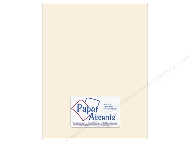 Paper Accents Cardstock 8 1/2 x 11 in. #8069 Muslin French Vanilla (25 sheets)