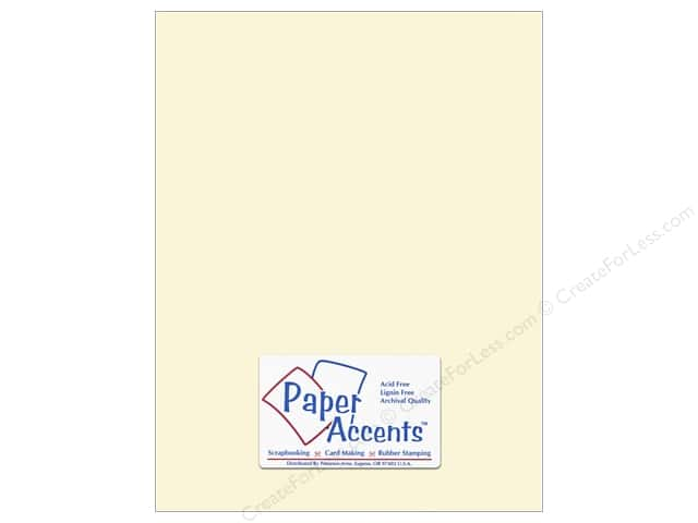 Paper Accents Cardstock 8 1/2 x 11 in. #119 Smooth Cream (25 sheets)