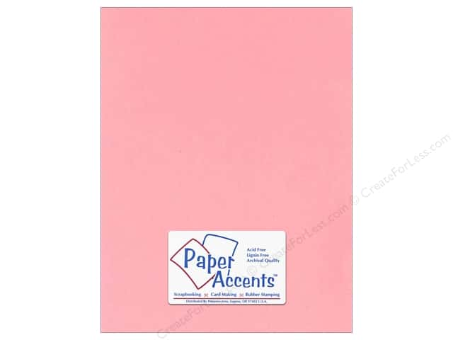 Cardstock 8 1/2 x 11 in. #124 Smooth Light Pink by Paper Accents (25 sheets)