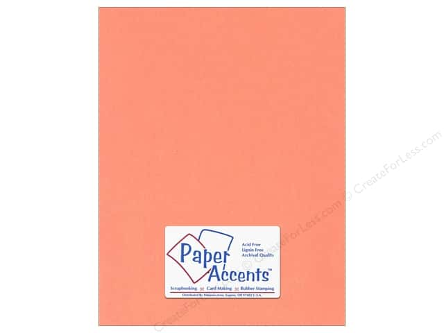 Cardstock 8 1/2 x 11 in. #125 Smooth Salmon by Paper Accents (25 sheets)