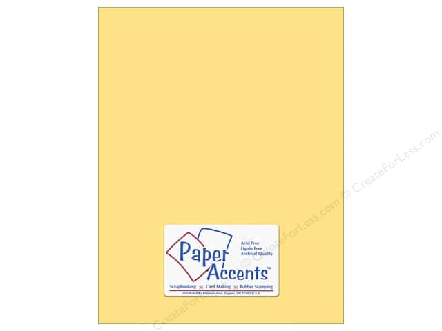 Paper Accents Cardstock 8 1/2 x 11 in. #138 Smooth Sunflower (25 sheets)
