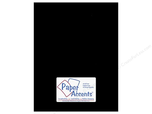 Paper Accents Cardstock 8 1/2 x 11 in. #127 Smooth Black (250 sheets)