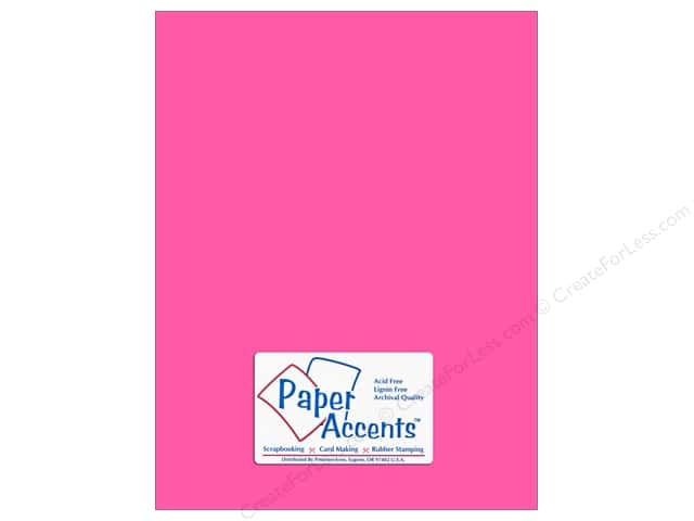 Paper Accents Cardstock 8 1/2 x 11 in. #106 Smooth Electric Pink (25 sheets)