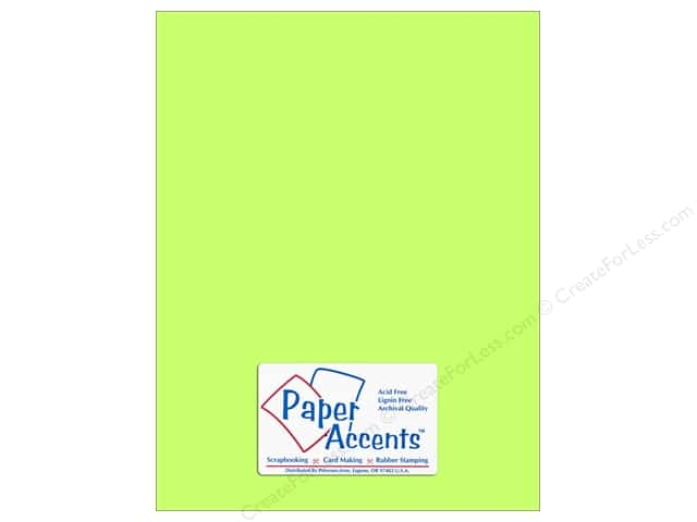 Paper Accents Cardstock 8 1/2 x 11 in. #107 Smooth Electric Green (25 sheets)
