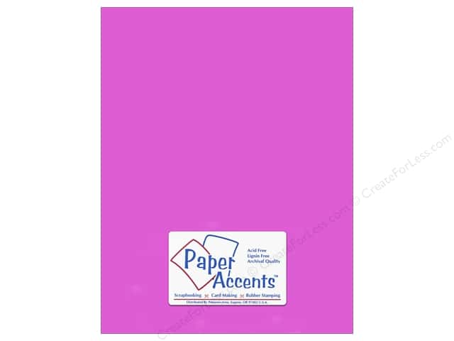 Cardstock 8 1/2 x 11 in. #114 Smooth Purple by Paper Accents (25 sheets)