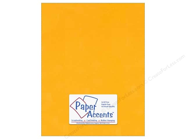Cardstock 8 1/2 x 11 in. #120 Smooth Goldenrod by Paper Accents (25 sheets)