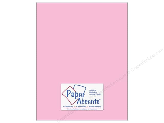 Paper Accents Cardstock 8 1/2 x 11 in. #8063 Muslin Tickled Pink (25 sheets)