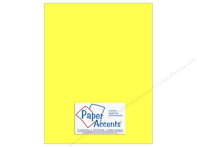 Cardstock 8 1/2 x 11 in. #110 Smooth Electric Yellow by Paper Accents (25 sheets)