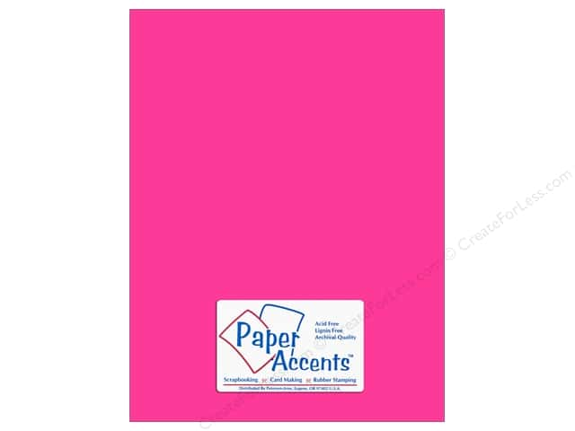 Cardstock 8 1/2 x 11 in. #112 Smooth Fuchsia by Paper Accents (25 sheets)
