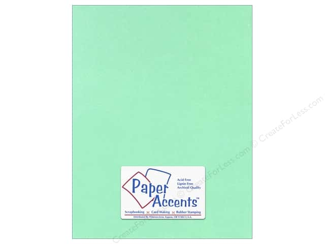 Cardstock 8 1/2 x 11 in. #118 Smooth Light Green by Paper Accents (25 sheets)