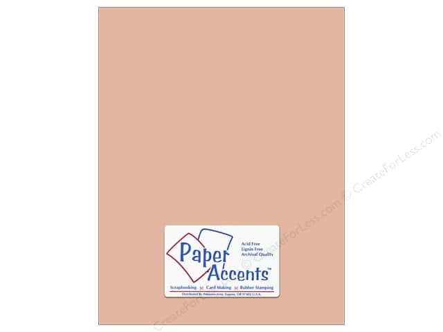 Cardstock 8 1/2 x 11 in. #8065 Muslin Iced Cocoa by Paper Accents (25 sheets)