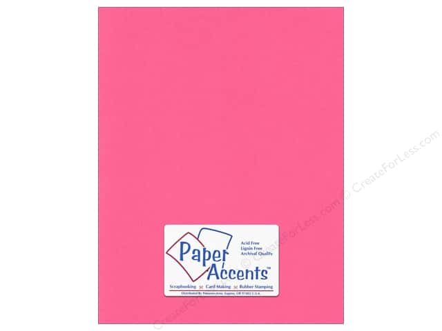 Cardstock 8 1/2 x 11 in. #192 Smooth Razzle Berry by Paper Accents (25 sheets)