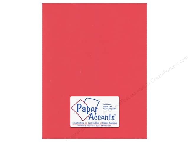 Cardstock 8 1/2 x 11 in. #197 Smooth Poppy by Paper Accents (25 sheets)