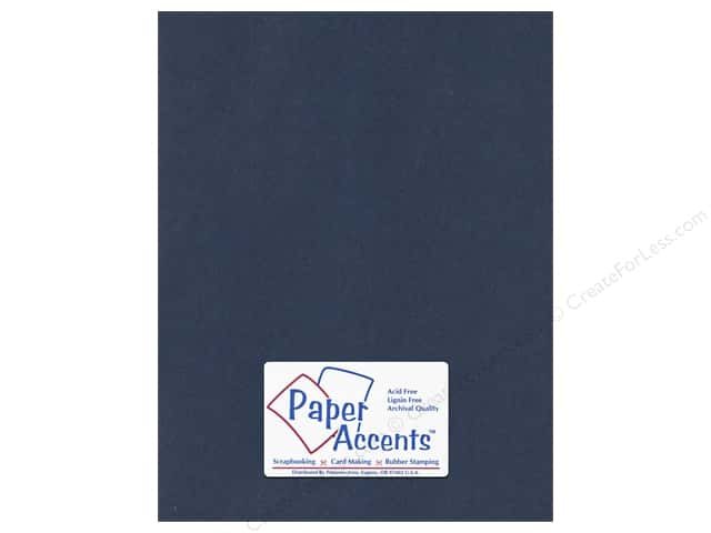 Cardstock 8 1/2 x 11 in. #98 Smooth Navy Blue by Paper Accents (25 sheets)