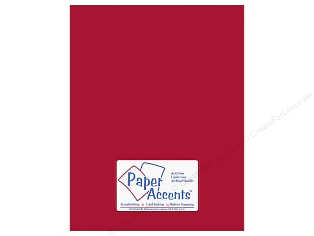 Paper Accents Cardstock 8 1/2 x 11 in. #10084 Stash Builder Garnet (25 sheets)
