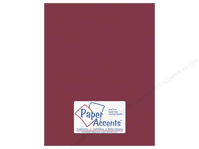 Paper Accents Cardstock 8 1/2 x 11 in. #10085 Stash Builder Rhubarb (25 sheets)