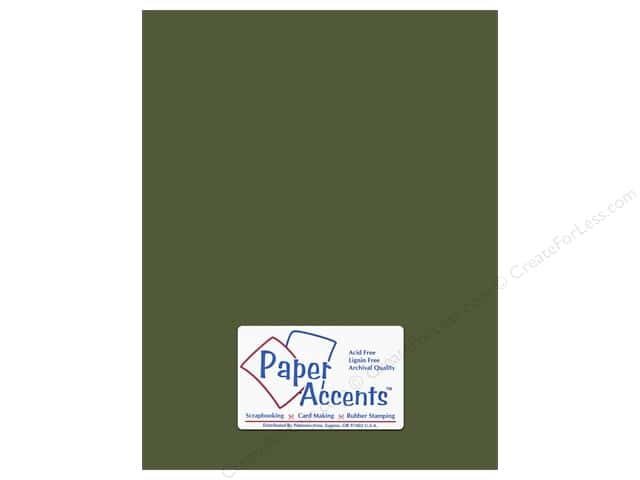 Paper Accents Cardstock 8 1/2 x 11 in. #10088 Stash Builder Green Bean (25 sheets)