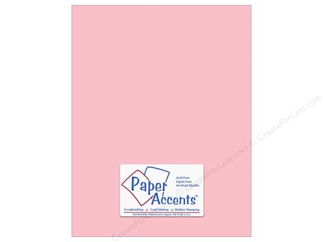 Cardstock 8 1/2 x 11 in. #8005 Muslin Berry Blush by Paper Accents (25 sheets)