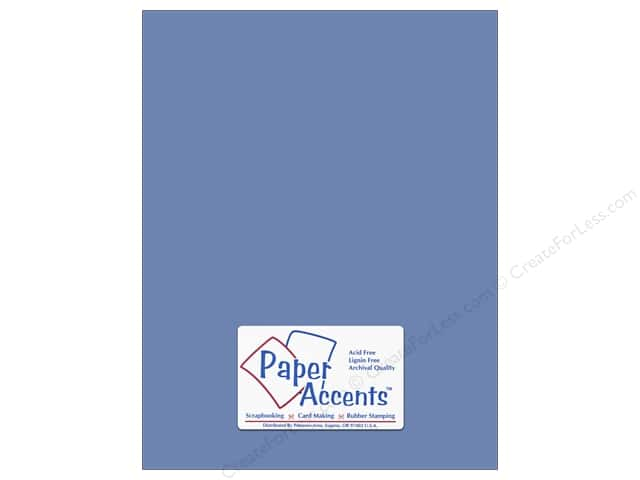 Cardstock 8 1/2 x 11 in. #140 Smooth Persian Blue by Paper Accents (25 sheets)