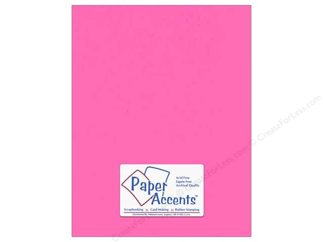 Paper Accents Cardstock 8 1/2 x 11 in. #149 Smooth Bubblegum (25 sheets)