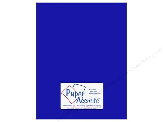 Paper Accents Cardstock 8 1/2 x 11 in. #159 Smooth Royal Blue (25 sheets)