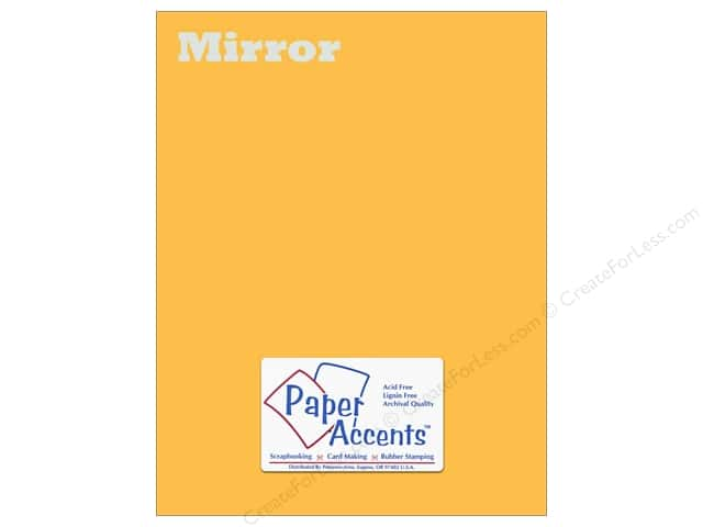 Cardstock 8 1/2 x 11 in. Mirror Gold by Paper Accents (25 sheets)