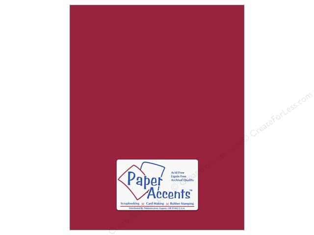 Cardstock 8 1/2 x 11 in. #139 Smooth Dark Red by Paper Accents (25 sheets)